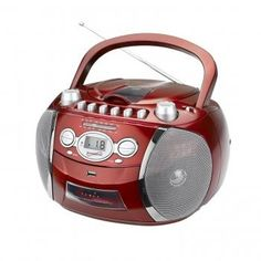 Supersonic SC-712USB Portable MP3/CD Player with Cassette Recorder, AM/FM Radio & USB Input