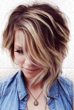 Trendy and sexy asymmetrical bob haircuts. Consider an asymmetrical bob haircut, especially if you are looking for a fun new hairstyle this year and are bored with the same old style. This fun, edgy look will give you a feminine yet funky feel and make you stand out from the crowd.