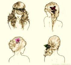hair illustration styles