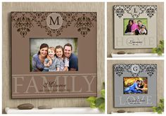 LOVE LOVE LOVE this frame! It's the brand new Forever Family Personalized Photo Wall Frame design from PMall! Perfect housewarming or wedding gift idea! It's on sale now for only $24.70! #wedding #Home #family
