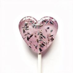 50 Flower Heart Lollipops // Think Spring Collection // Spring Wedding Favors // Summer Weddings // 4 Different Flavors