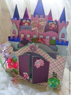 Фотоальбом Замок для принцессы. Продан - фуксия,альбом для фото,принцесса