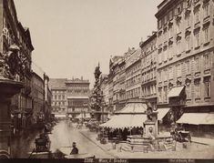 August Stauda, Graben A 12 bis 29, 1885 - 1915 © Wien Museum Documentary Photographers, Museum Collection, Vienna, Documentaries, Louvre, Street View, World, Places, Trench