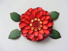 PAPER ZINNIA TUTORIAL - link to my blog tutorial on how to make this flower using Spellbinders Die D-lites set.