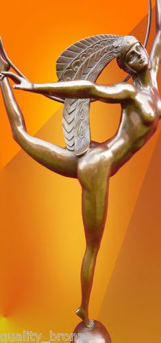 "Stunning Art Deco ""Hoop Dancer"" Bronze Figurine. @Deidra Brocké Wallace"