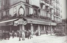 Josep Brangulí Soler - Café-Restaurant Maison Dorée de gran prestigio que estaba situado en la esquina de la calle Rivadeneyra con Plaza de Catalunya. Años 20