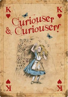 ALICE IN WONDERLAND GIANT Vintage Playing Card Tea Party Prop Mad ...