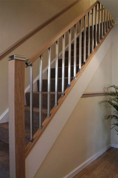 Stair Suppliers for Solution Stair Parts & Axxys Stairs Ranges, find the perfect Stair Kits & Oak Stair Parts at very competitive prices uk delivery Staircase Banister Ideas, Staircase Metal, Wood Railings For Stairs, House Staircase, Staircase Makeover, Banisters, Bannister Ideas, Painted Staircases, Entryway Stairs
