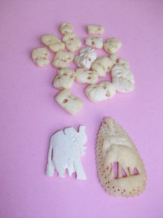 Vintage  Bone Elephant Pendants and Beads MM32 by HeartsMaddness, $19.00