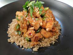 [Homemade] Orange Chicken with Quinoa