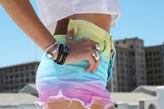 rainbow dye cut offs