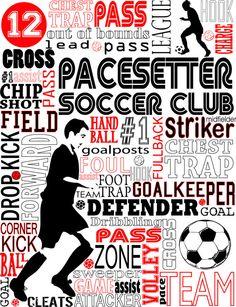 Soccer Print Custom Typography Soccer Poster by PrintChicks