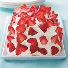 Frozen Strawberry Delight Recipe / Condensed Milk, Lemon Juice, Strawberries, Cool Whip and Oreos!