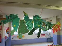 School Room Decorations, Kindergarten Art Projects, Dragon Party, Dragon Crafts, Vacation Bible School, Office And School Supplies, Art Plastique, Chinese New Year, Art Education