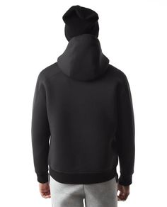 """The Neo Hoodie is crafted from our highly breathable double-layer, two-tone bonded """"neoprene"""" knit that borrows construction techniques normally associated with"""