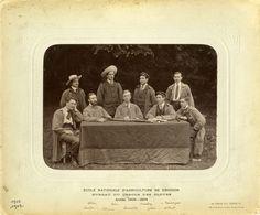 Grignon, Bureau du cercle des élèves, photographie ancienne, 1903-1904 / ©Musée du Vivant - AgroParisTech