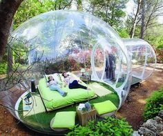 Bubble Hotel in Attrap Reves, France - Every private bubble gives you panoramic views of the surrounding nature of Allauch.