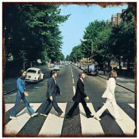 The Beatles Abbey Road Tin Sign  http://www.retroplanet.com/PROD/24745