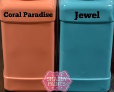 Coral Paradise and Jewel Chalked Paint