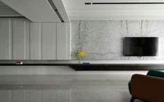 on Behance Living Room Tv, Living Room Modern, Interior Design Living Room, Modern Interior, Home And Living, Living Room Designs, Living Spaces, Tv Wall Design, House Design