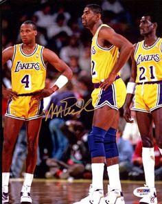 Magic Johnson Autographed 8x10 Photo Lakers PSA/DNA