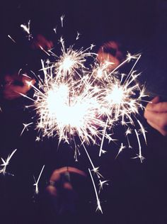 Sparklers with friends make for a great summer night