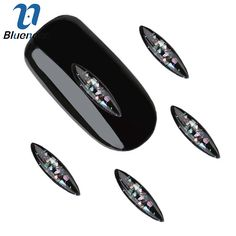10Pcs/Lot DIY Nail Art Decoration 3D Black&White Acrylic Shuttle Marble Design Rhinestone Accessory For Nail Studs TN2074 TN2075