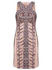 Linear Embellished Bodycon. MISS SELFRIDGE