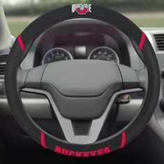 Ohio State Buckeyes Embroidered Steering Wheel Cover