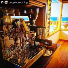 Envy from our office today with this coastal setup sent through from the @doppioornothing team!  @rocketespresso #giottoevoluzione #rocketespresso #fromwhereyouwouldratherbe  #Repost @doppioornothing with @repostapp.  Not a bad spot to #plonk a #rocketgiotto and a #mazzermini #domestic #installation #forster #godscountry #doppioornothingespresso #reflection #pacificocean #lovemyjob. #homebaristasetup #coffee #espressomachine #coastal #NSW http://ift.tt/1VbgBi2