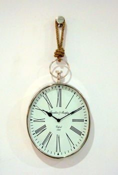 Large Oval wall clock with knotted rope: Amazon.co.uk: Kitchen & Home