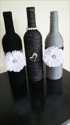 wine bottle crafts diy 39