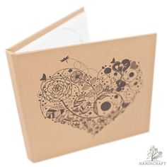 Сreative handmade wedding CD/DVD box Heart design by NZHANDICRAFT