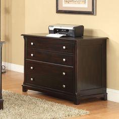 Coaster Company Walnut Cappuccino Finish File Cabinet (Cappuccino), Brown