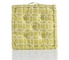 Trendiges Sitzkissen im tollen Kreisdesign - ein echter Hingucker Modern, Curtains, Shower, Prints, Design, Terrace, Chair Pads, Textiles, Rain Shower Heads