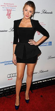 Blake Lively: I think she is one of the most gorgeous women in Hollywood and I love her style.
