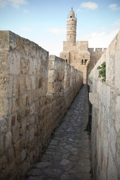 Tower of David, once a Citadel, today a Museum. Old City of Jerusalem, Israel.