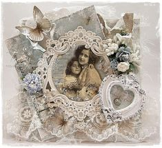 Vintage Card by LLC DT Member Tracy Payne, using papers and image from Reprint.