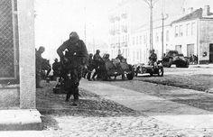 1939, Pologne, Varsovie, La Wehrmacht au combat dans la capitale