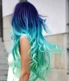 I wish! ombre blue teal aqua seafoam