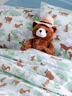 Lanz Friends of the Forest Portuguese flannel sheets are soft and cuddly - brushed three times on both sides to ensure optimum comfort and warmth.