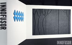 Silent Trees modular acoustic panel series. HxL 1950x1150 mm modules, 3 pcs. Color: Heart of the night (black). See more at www.innofusor.com #Habitare #Design #acoustics #Innofusor