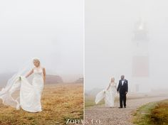 Foggy Nantucket Wedding at the Chanticleer and Sconset Casino by Zofia & Co.
