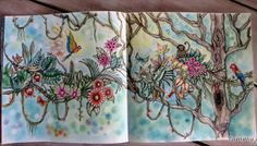 Hanging Jungle , doublepage . Magical Jungle, Johanna Basford