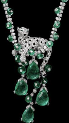 Funky Jewelry, Gems Jewelry, Art Deco Jewelry, Gemstone Jewelry, Jewelery, Jewelry Design, High Jewelry, Cartier Jewelry, Emerald Jewelry