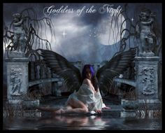* Update * This has been featured in DA News [Featured Artists - August by `LuneBleu - Angel - Wings - Background - Textures I give full Pr. Goddess of the Night Dark Angels, Mythical Creatures, Textured Background, Fairies, Gothic, Digital Art, Deviantart, Fantasy, Night