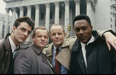 Chris, George, Michael and Richard George Dzundza, George Michael, Chris Noth, Best Tv Series Ever, New York Police, Originals Cast, Private Investigator, Old Shows, Law And Order