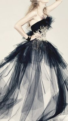 from all that black tulle???