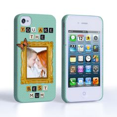 Caseflex iPhone 4 / 4S 'You are the best Mum' Personalised Hard Case – Blue #MothersDay #Scrabble #Letters #Butterfly #YouAreTheBestMum #Illustration #Personalised #Personal #Typography #Frame #PolkaDots #Blue #Holiday #Celebration #Gift #Present #iPhone #Apple #iPhone4s #iPhone4 #Case #Cover #HardCase #PhoneCover