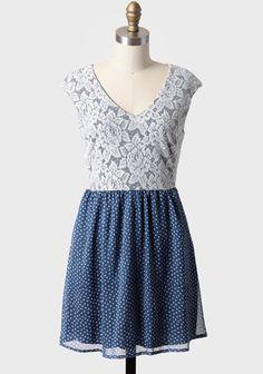 Starry Eyed Lace Detail Dress | Modern Vintage Dresses